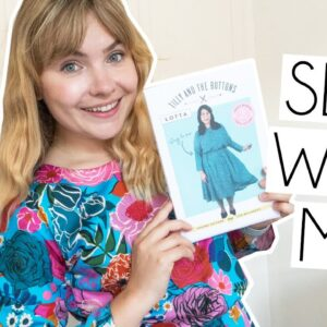 SEW WITH ME | Tilly & The Buttons NEW Lotta Dress Pattern, Ruby Star Society Fabric