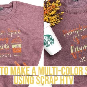 HOW TO MAKE A MULTI-COLOR SHIRT USING HTV/IRON ON & CRICUT - GREAT FOR SCRAPS