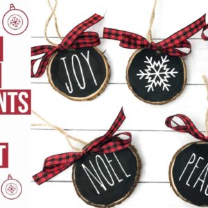CHRISTMAS WOOD SLICE ORNAMENTS | 8TH DAY OF CRAFTMAS