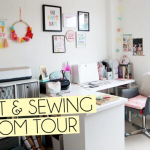 CRAFT & SEWING ROOM TOUR