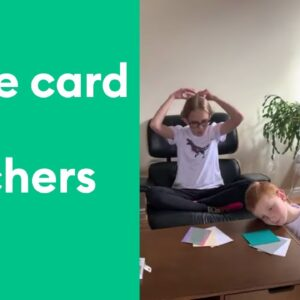 Crafting at Home with Kids - Insert Cards for Teachers