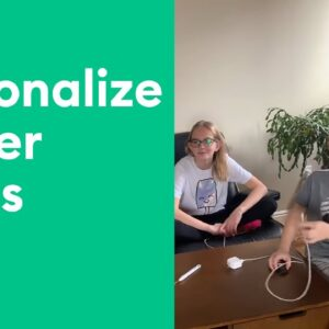Crafting at Home with Kids - Personalized Power Cords