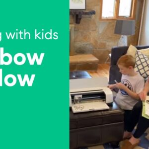 Crafting at Home with Kids - Rainbow Window