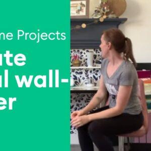 Create Floral Wallpaper Using Vinyl