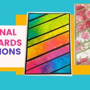 Cricut Diagonal Cut Cards & Dylusion Sprays