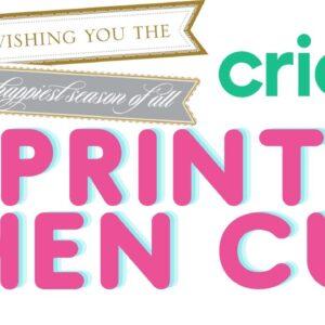 Cricut Print then Cut in Design Space