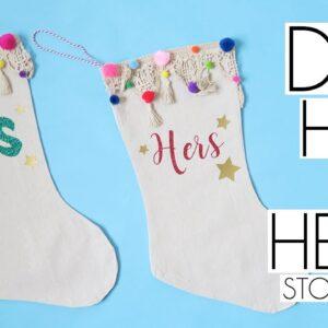 DIY Cricut Crafts Easy His & Hers Christmas Stockings | Handmade Decor