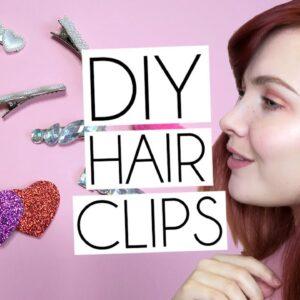 DIY EASY HAIR CLIPS: GEMS, POMPOMS & GLITTER HEARTS