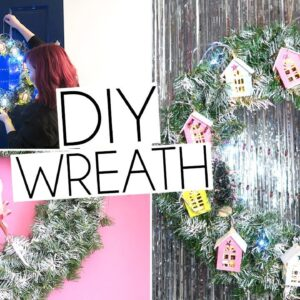 DIY EASY LIGHT UP CHRISTMAS HOLIDAY WREATH 🎄