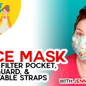 DIY Face Mask with Filter Pocket - Make on a Cricut or By Hand!