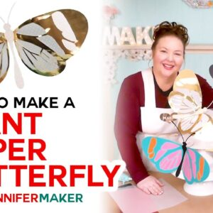 DIY Giant Paper Butterflies with Wings You Can Move and Bend!