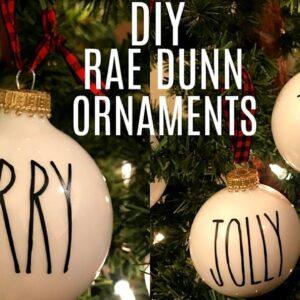 DIY RAE DUNN INSPIRED ORNAMENTS USING CRICUT | FARMHOUSE CHRISTMAS DECOR