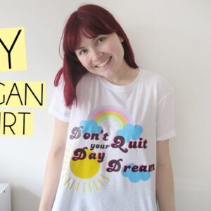 DIY Slogan Daydream Rainbow T-Shirt | Cricut DIY