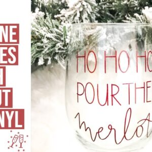DIY WINE GLASSES WITH CRICUT AND VINYL | 9TH DAY OF CRAFTMAS