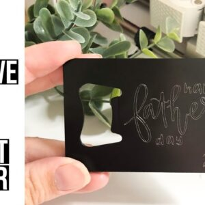 HOW TO ENGRAVE WITH THE CRICUT MAKER | HOW TO CENTER THE DESIGN | FATHER'S DAY GIFT IDEA