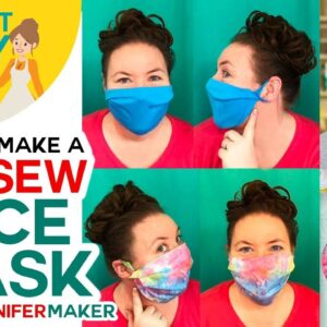 EASY No-Sew Face Mask with Two Layers + Filter Pocket -- No Elastic, No Ties!