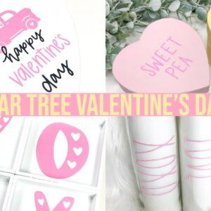 4 VALENTINE'S DAY DOLLAR TREE DIYS USING YOUR CRICUT AND ADHESIVE VINYL | 2020