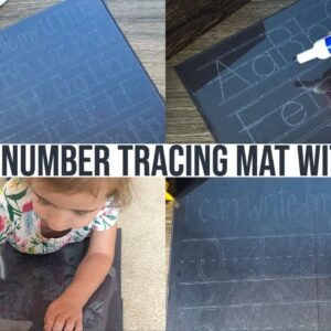 LETTER & NUMBER TRACING MATS USING CRICUT ENGRAVING TOOL & FINE POINT BLADE