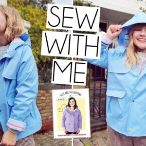 SEW WITH ME | Tilly & The Buttons Eden Raincoat | Vlog From Cutting to Making!