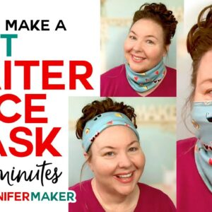 Gaiter Face Mask - Soft and Stretchy - Easy 15-Minute Pattern