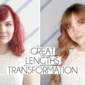 Great Lengths Hair Tapes Extensions | Transformation Vlog