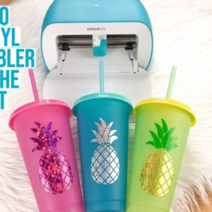 HOW TO ADD VINYL TO A COLOR CHANGING TUMBLER USING THE CRICUT JOY