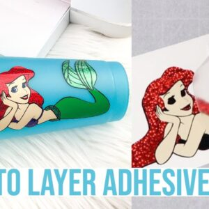HOW TO LAYER ADHESIVE VINYL USING THE PARCHMENT PAPER METHOD