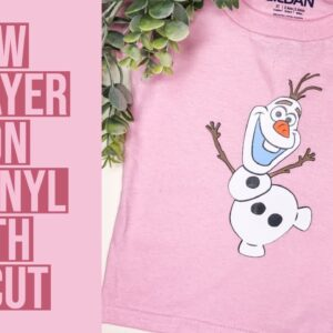 HOW TO LAYER IRON ON USING CRICUT | BEGINNER FRIENDLY