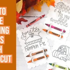 HOW TO MAKE COLORING PAGES WITH THE CRICUT | THANKSGIVING KIDS PROJECT
