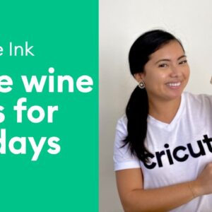 How to use Cricut Infusible Ink for the Holidays | Wine Bag Tutorial