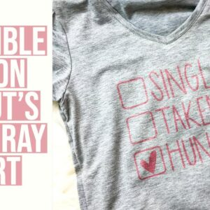 INFUSIBLE INK ON CRICUT'S NEW GRAY SHIRTS | VALENTINE'S DAY SHIRT