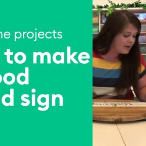 Make a Round Wood Sign
