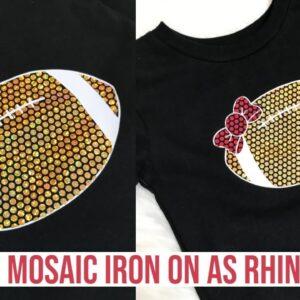 RHINESTONES WITH CRICUT | CRICUT'S NEW MOSAIC HOLOGRAPHIC IRON-ON