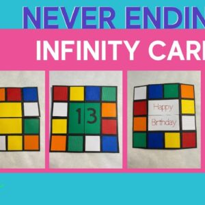 Rubik's Cube Infinity Card/Never Ending Card with Cricut