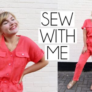 SEW WITH ME | Tilly & The Buttons Alexa Jumpsuit VLOG