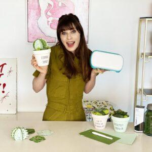 Zooey Deschanel Crafts with her Cricut Joy™