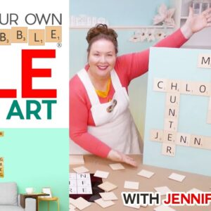 DIY Scrabble Tile Wall Art - How to Layout Your Words, Make Your Tiles, and Attach them Together!