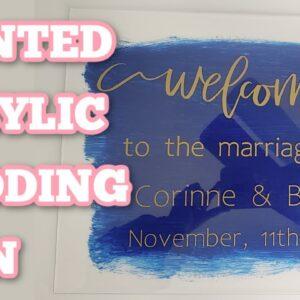 How to apply large decals the easy way - DIY acrylic signs - Cricut - Hinge method - Wedding DIY