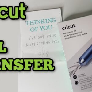 How to use the Foil Transfer kit for Cricut - Foiling with cricut - Foil quill - foil tool