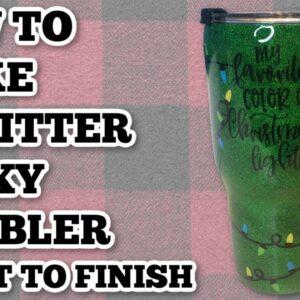 epoxy tumbler from start to finish - Glitter tumbler tutorial - How to make an epoxy tumbler