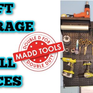 How to make the most out of storage space in small rooms - Craft storage - Peg boards