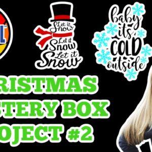 143vinyl Christmas Mystery box Tutorial - gift bag