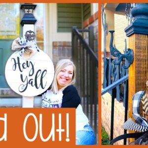 2 Easy DIY Welcome Sign Porch Post