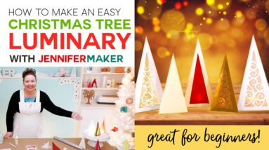 Christmas Tree Luminaries - Easy Beginner Craft!