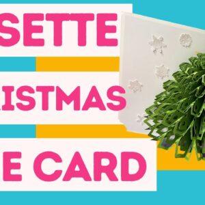 Cricut Rosette Christmas Tree Card