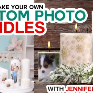 DIY Personalized Candles - How to Transfer Images & Photos to Wax Candles!