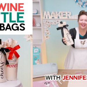 DIY Wine Gift Bags With Fun Vinyl Decals!