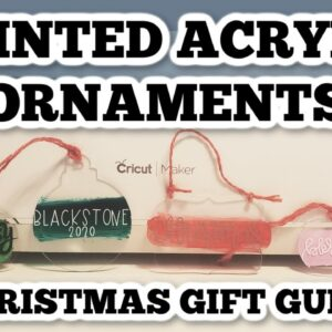 How to make painted acrylic ornaments - Christmas gift ideas - DIY inexpensive gifts.