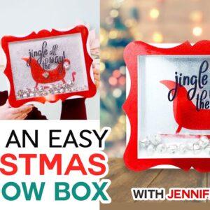 EASY Christmas Shadow Box with Jingle Bells!