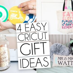 4 EASY CRICUT PROJECTS GIFT IDEAS! | INFUSIBLE INK, HEAT TRANSFER VINYL & MORE